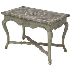 Antique Italian Restored Painted Centre Hall Table or Ladies Writing Table