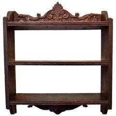 18th Century French Oak Wall Shelf
