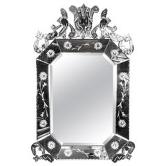Italian Hollywood Regency Venetian Mirror