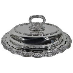 Tiffany Chrysanthemum Sterling Silver Covered Serving Dish