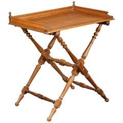 19th Century Oak Butler's Tray Table