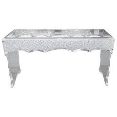 Sensational Lucite Sofa Table