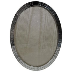 Antique Tiffany Edwardian Sterling Silver Oval Picture Frame