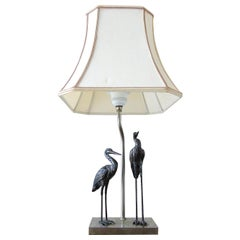 Vintage Crane Bird Table Lamp, 1950s
