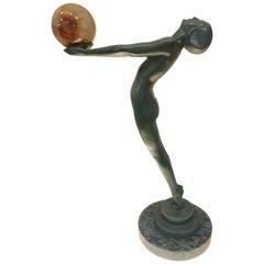 Lueur Classic Art Deco Nude Statue by Max Le Verrier