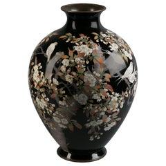 Large Japanese Cloisonné Vase, circa 1900