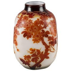 Galle Fire Polished Cameo Vase, circa 1910