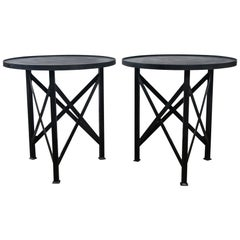 Round Steel Side Table