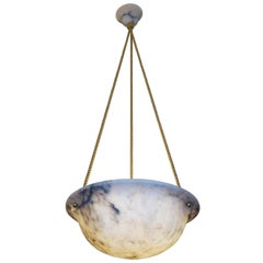 Dusky Alabaster Light Fixture, Sweden, circa 1910