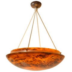 Large Tortoise Alabaster Light Fixture