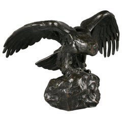 French Bronze Eagle by Antoine Louis Barye