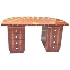 Art Deco Design Circular Inlaid Desk