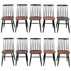 Danish Modern Dining Chairs Set of Ten