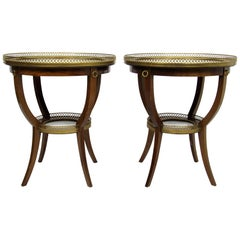 Pair of Mid-20th Century French Gueridons by Maison Jansen