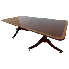 English George III Mahogany Banquet Dining Table, Early 19th Century