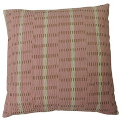 Vintage Pink and Natural African Woven Decorative Throw Pillows