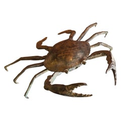 Bronze Articulated Crab Sculpture