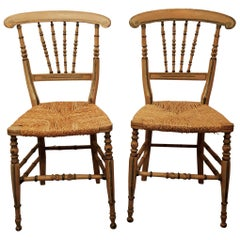 Pair of Decorated Side Chairs