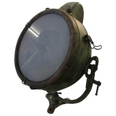 Rustic General Electric Vintage Industrial Spotlight from the 1930s