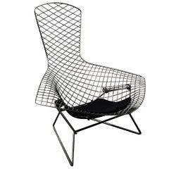 Harry Bertoia, Knoll International Chrome Bird Chair with Purple Cushion, 1952