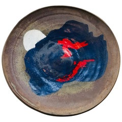 Abstract Expressive Stoneware Charger