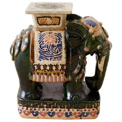 Chinese Elephant Garden Stool or Drinks Table