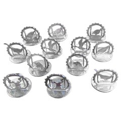 Set of 12 Sterling Silver Place Card Holders