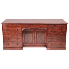 Quality William IV Large Mahogany Desk