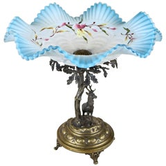 Centerpiece with Frilly Glass Top, Austria, circa 1890