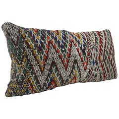 Moroccan Chic Kilim Pillow XL Lumbar Morocco Cushion