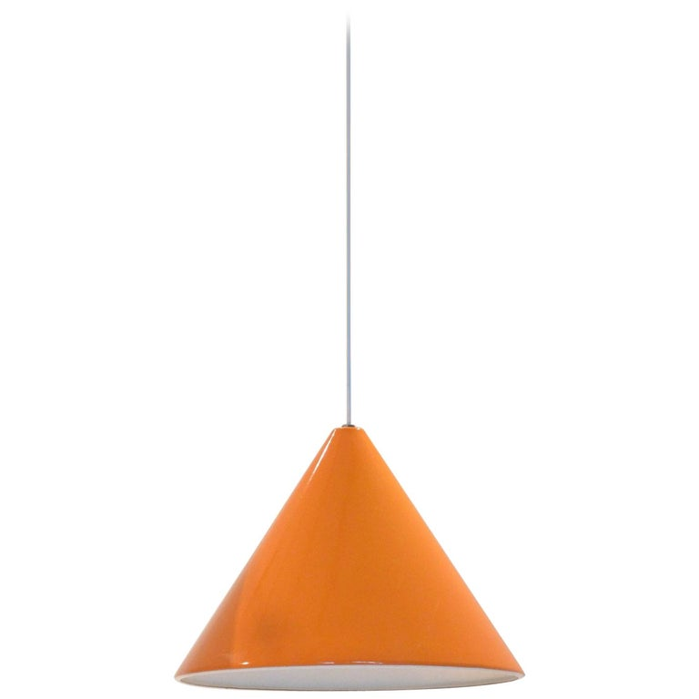 Midcentury Orange Billiard Pendant by Arne Jacobsen for Louis Poulsen