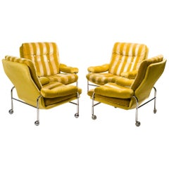 Set of Four Bruno Mathsson Karin Armchairs, 1960s