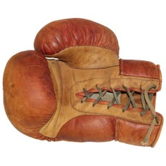 Mid-Century Modern Leather Boxing Glove, 1950s