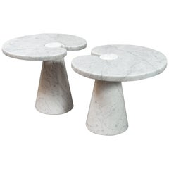 "Pair of Marble ""Eros"" Tables by Mangiarotti"