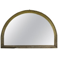Early 19th Century Italian Giltwood Carved Arched Mirror