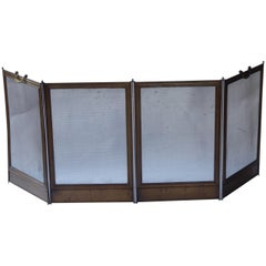 French Napoleon III Fireplace Screen or Fire Screen