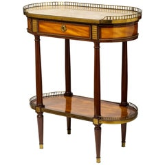 Louis XVI Bois Citronnier and Amaranth Oval Occasional Table