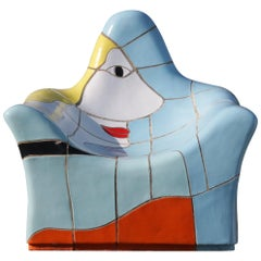 Jan Snoeck Ceramics Chair or Sculpture from the MS Volendam, Netherlands, 1990