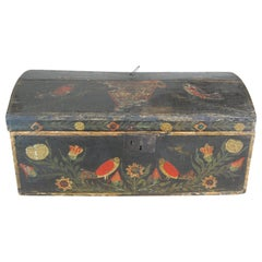 19th Century Naive Normandy Marriage Chest