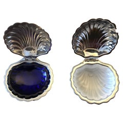 Caviar Opaline Shell Set, France, 1950s