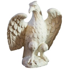 Wonderful Pair of Classic Cast Concrete Eagles