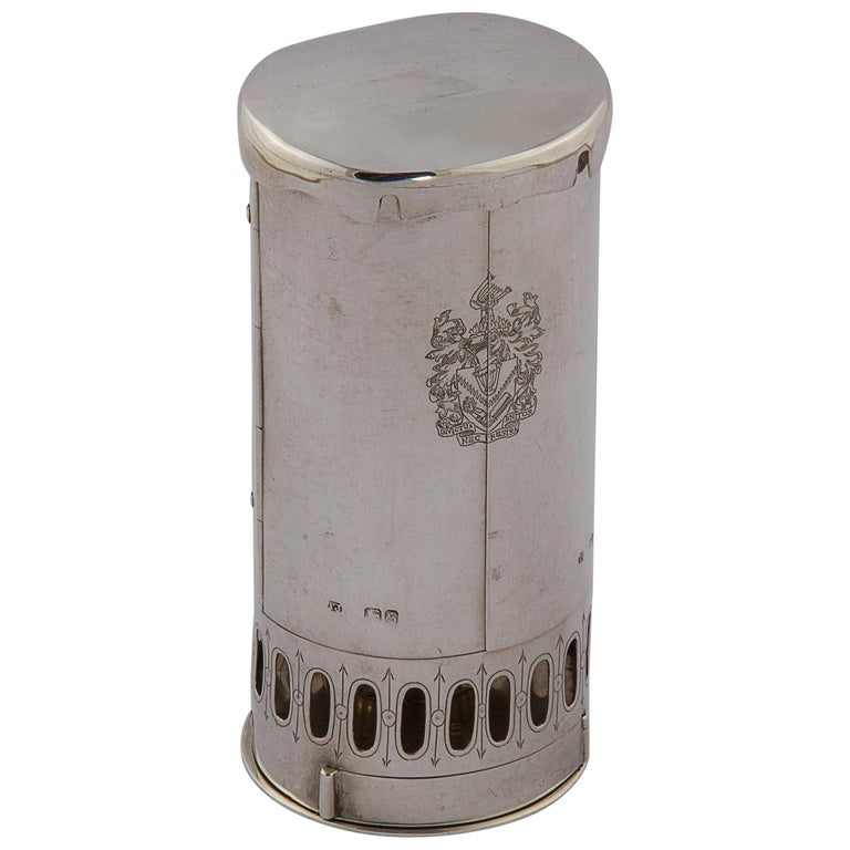 19th Century Silver Travel Lamp