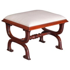 Gillows Interest, A Good George IV Rosewood X-Frame Stool, circa 1825-1830