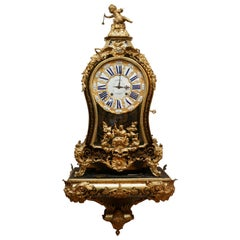 18th Century Regency Boulle Marquetry Cartel Clock by Fortin Paris