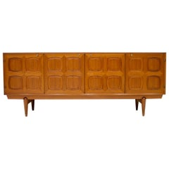 Graphic Teak Sideboard by Rastad & Relling for Bahus Norway, 1960s