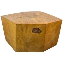 Huge Solid American Studio Coffee Table or Stool by Howard Werner