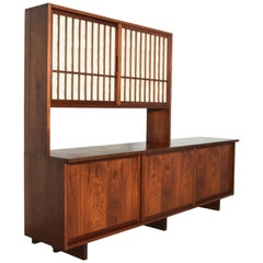 Early George Nakashima Cabinet, Rare Wood Selection, 1958