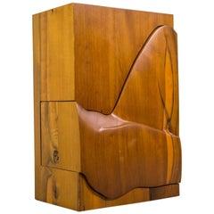 Studio Furniture Wall Cabinet in Solid Walnut, 1970s, US