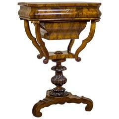 19th Century Biedermeier Mahogany Sewing Table