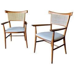 Paul McCobb for Winchendon Cane Back Armchairs, circa 1955